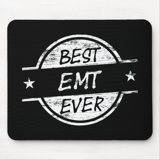Best EMT Ever White Mousepad