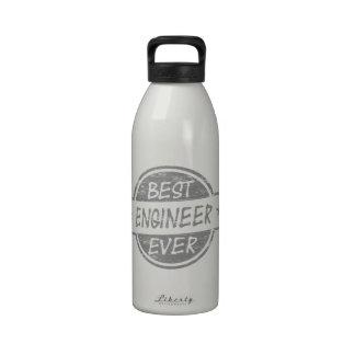 Best Engineer Ever Gray Water Bottle