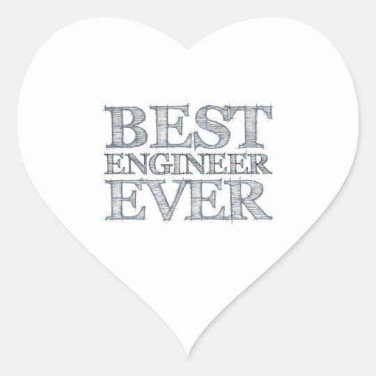Best Engineer Ever Heart Sticker