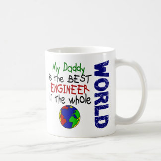 Best Engineer In World 2 (Daddy) Classic White Coffee Mug