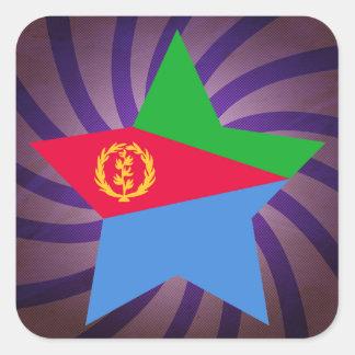 Best Eritrea Flag Design Square Sticker