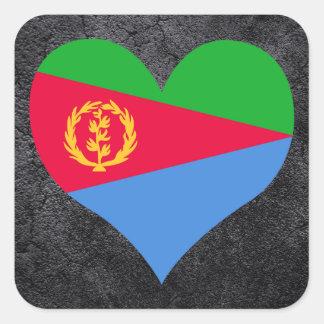 Best Eritrean Heart flag Square Sticker