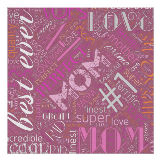 Best Ever Mom Word Cloud ID262 Poster