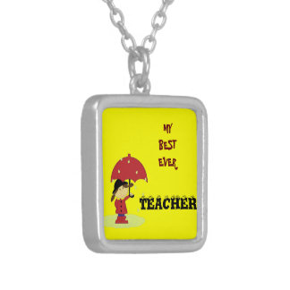 Best Ever Teacher Personalised Necklace