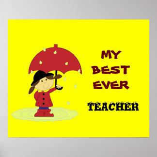 Best Ever Teacher Poster