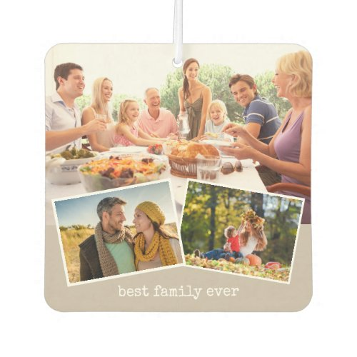 Best Family Ever Double Sided Photo Collage Air Freshener