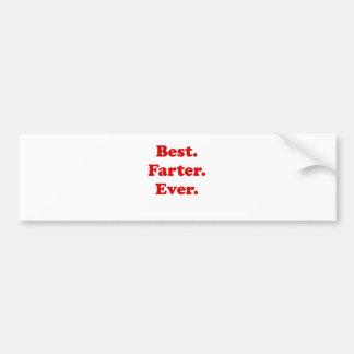 Best Farter Ever Bumper Sticker