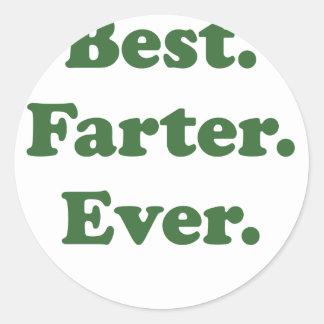 Best Farter Ever Classic Round Sticker