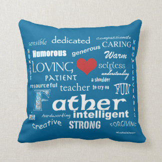 Best Father Attributes-Red Heart/Personalize Pillow