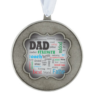 Best Father Dads Day Word Cloud Ornament