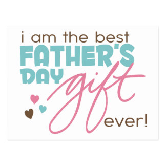 Best Fathers Day Gift Postcard