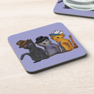 Best Feline Friends Drink Coaster