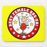 Best Female BBQ-er Mousepad
