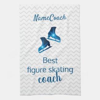Best figure skating coach - blue star skate towel