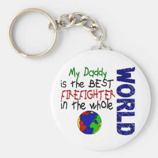 Best Firefighter In World 2 (Daddy) Keychain