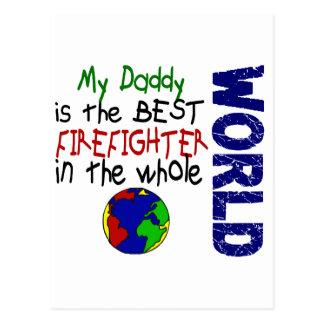 Best Firefighter In World 2 (Daddy) Postcard