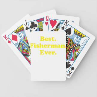 Best Fisherman Ever Bicycle Card Deck