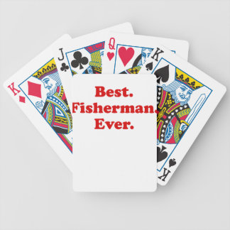 Best Fisherman Ever Poker Cards