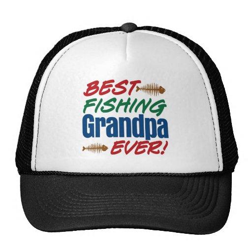 Best fishing grandpa ever trucker hat zazzle for Best fishing hat