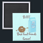 """Best Food Friends Forever Magnet<br><div class=""""desc"""">Thank you for your interest in the Flippity Trippity Zazzle Store. Please feel free to contact me should you have any questions, if would like changes to the design colors, or if you require a coordinating piece that you do not see posted in my shop. E-mail me at sadlittleboydesigns@gmail.com with...</div>"""