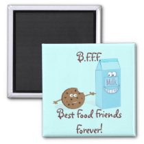 Best Food Friends Forever Magnet