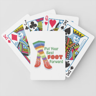 Best Foot Forward Bicycle Playing Cards