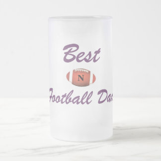 Best Football Dad Frosted Glass Mug