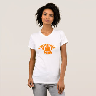 Best Football Mom Orange T-shirt