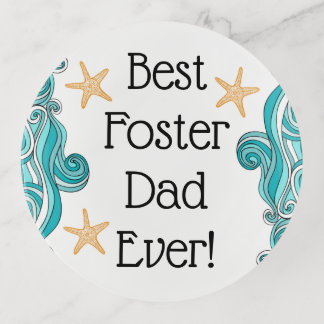Best Foster Dad Ever Starfish Story Adoption Gift Trinket Trays