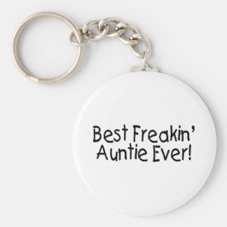 Best Freakin Auntie Ever 2 Keychain