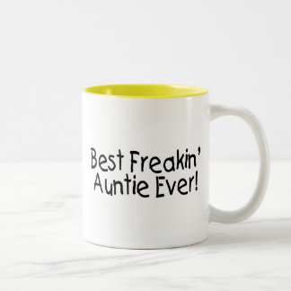 Best Freakin Auntie Ever 2 Two-Tone Coffee Mug