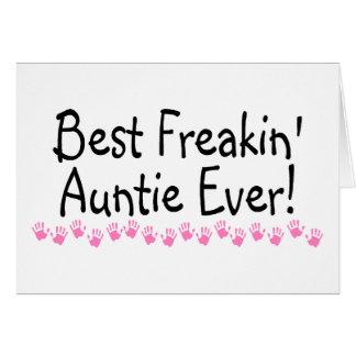 Best Freakin Auntie Ever Card