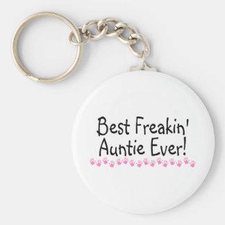 Best Freakin Auntie Ever Basic Round Button Keychain