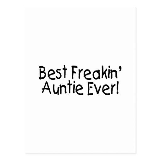 Best Freakin Auntie Ever Postcard