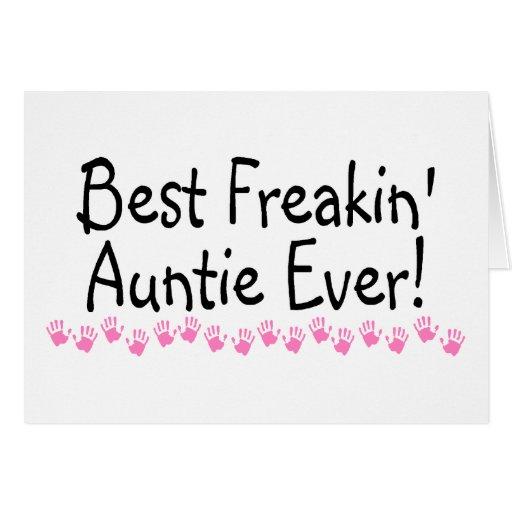 Best Freakin Auntie Every Card