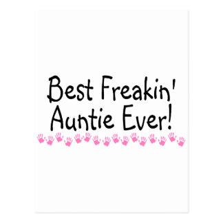 Best Freakin Auntie Every Postcard