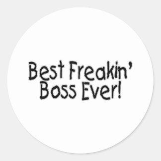 Best Freakin Boss Ever Classic Round Sticker