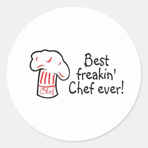 Best Freakin Chef Ever Classic Round Sticker