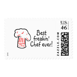 Best Freakin Chef Ever Postage Stamp