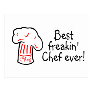 Best Freakin Chef Ever Postcards