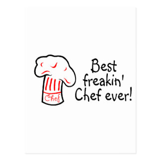 Best Freakin Chef Ever Postcard