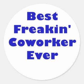 Best Freakin Coworker Ever Classic Round Sticker