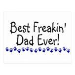 Best Freakin Dad Ever Postcard