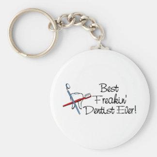Best Freakin Dentist Ever Basic Round Button Keychain