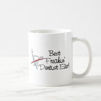 Best Freakin Dentist Ever Classic White Coffee Mug