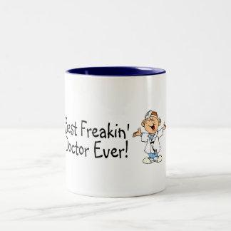 Best Freakin Doctor Ever Two-Tone Coffee Mug