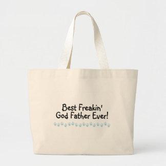 Best Freakin God Father Ever Jumbo Tote Bag