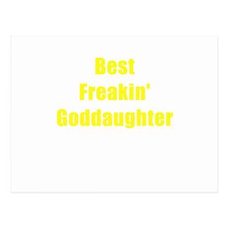 Best Freakin Goddaughter Postcard