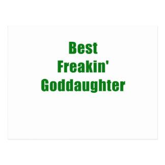Best Freakin Goddaughter Post Card