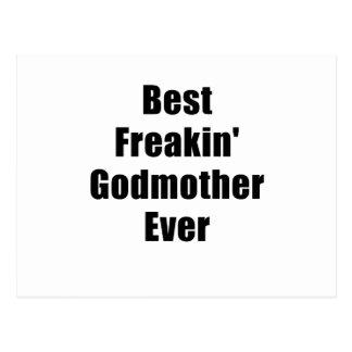 Best Freakin Godmother Ever Postcards